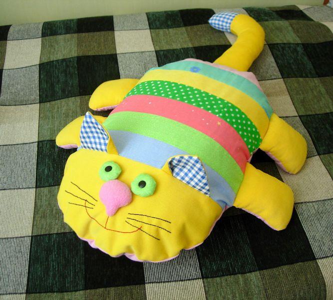 Кот подушка своими руками с выкройками
